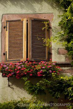 Alsace France Village flower box