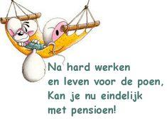 tekst voor iemand die met pensioen gaat op Feest-Plaatjes.nl