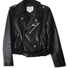 Kate Spade Leather Moto Motorcycle Jacket (1.650 BRL) ❤ liked on Polyvore featuring outerwear, jackets, biker jackets, lined leather jacket, rider leather jacket, rider jacket and real leather jackets