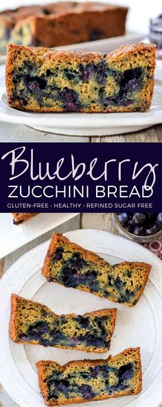 Lower Excess Fat Rooster Recipes That Basically Prime This Healthy Blueberry Zucchini Bread Recipe Is The Perfect Breakfast Or Snack It's Packed Full Of Fruits And Vegetables And Is Gluten-Free And Refined-Sugar Free Sugar Free Zucchini Bread, Zucchini Bread Recipes, Blueberry Zucchini Bread Healthy, Healthy Blueberry Recipes, Baby Food Recipes, Dessert Recipes, Food Baby, Dessert Ideas, Free Recipes