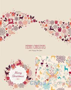 Christmas flower wallpaper design vector
