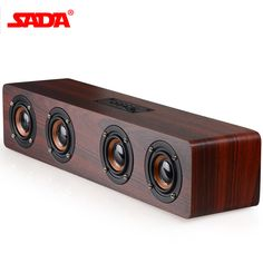Audio Docks & Mini Speakers Wooden Wireless Bluetooth Speaker Subwoofer Stereo Sound Box Hands-free O1o3