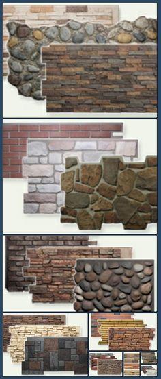 Tipos de piedra laja y ladrillo fachada pinterest for Ladrillos falsos decorativos