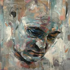 Contemporary oil painting emotional portraits by joshua miels. Oil Painting Pictures, Modern Oil Painting, Pictures To Paint, Oil On Canvas, Canvas Art, Art Prints For Home, Palette Knife Painting, Art Graphique, Black Eyed Peas