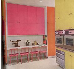 Wonderful colors in a 1970 Kitchen