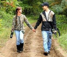 This would be a cute engagement photo :)