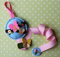 Whimsical Butterfly Hair Bow Holder, Felt Hair Clip Holder via Etsy