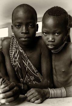 Suri Tribe boys . Ethiopia