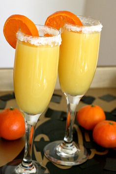 Virgin Mimosa Drinks