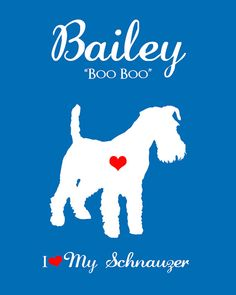 Custom Dog Silhouette Personalized Pet Art 8x10 Print, Christmas Gift, Schnauzer, Dog Name, Dog Gift for Christmas, Dog Lover, Breed, Custom