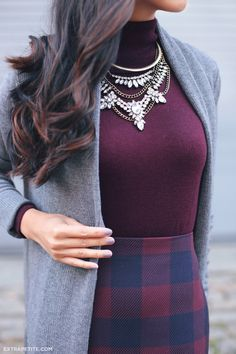 ExtraPetite.com - Fall hues: Plum, navy   grey at work (now 50% off!)