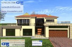 RDM5 House Plan No W2180 Dream Homes, My Dream Home, Double Storey House Plans, Site Plans, Garage Plans, Modern House Design, House Floor Plans, Home Collections, Luxury Homes