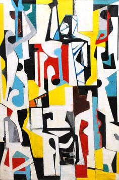 Seymour Fogel - Abstract Composition