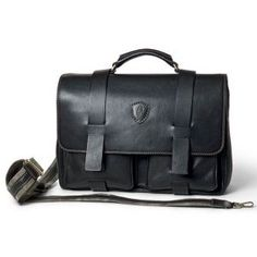 Tucci Men's Italian natural calf leather briefcase