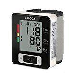 Hylogy Blutdruckmessgerät für das Handgelenk, Handgelenk-Messgerät mit tragbarer Aufbewahrungsbox, für zwei Benutzer, verstellbare Handgelenkmanschette, Warnung bei Herzrhythmusstörungen und 90 Speicherplätze