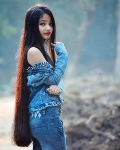 The next Rapunzel for the day is Our site is dedicated to the celebration of beautiful long hair. If you have long hair… Beautiful Girl Indian, Beautiful Long Hair, Gorgeous Hair, Long Black Hair, Very Long Hair, Straight Hairstyles, Girl Hairstyles, Black Hairstyles, Natural Hair Styles
