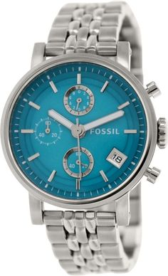 Fossil Women's Original Boyfriend ES3571 Silver Stainless-Steel Quartz Watch #Fossil #CasualWatches