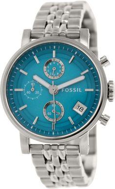 Fossil Women's Original Boyfriend ES3571 Silver Stainless-Steel Quartz Watch #Fossil #CasualWatches