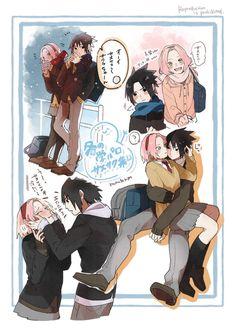Sasuke Uchiha Sakura Haruno, Sakura And Sasuke, Naruto And Sasuke, Naruto Shippuden Anime, Boruto, Sasusaku Doujinshi, Narusaku, Maid Sama Manga, Blood Anime