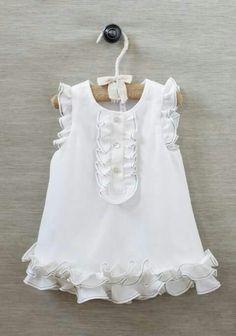 Vestido blanco para bebe