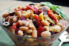 While searching for salads recently, I not only came across the idea for the Antipasto Salad, I also found a delicious recipe for Tuscan Bean Salad on the same Taste of Home website. Curiously, how...