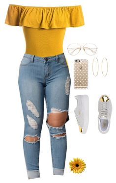 """Untitled #532"" by tdgaaf on Polyvore featuring Sans Souci, Casetify, Puma and Maria Francesca Pepe"