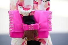 Pretty pink clutch