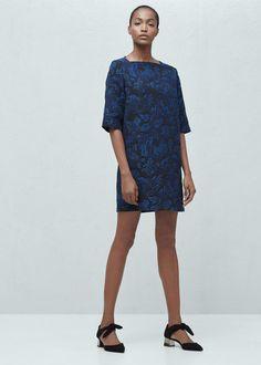 Textured jacquard dress | MANGO
