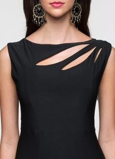 stylish neck designs for suits Cut Shirt Designs, Neck Designs For Suits, Neckline Designs, Dress Neck Designs, Designs For Dresses, Blouse Designs, Kurta Neck Design, Churidar Neck Designs, Kurta Designs