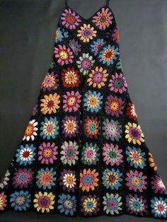 Fabulous Crochet a Little Black Crochet Dress Ideas. Georgeous Crochet a Little Black Crochet Dress Ideas. Black Crochet Dress, Crochet Skirts, Crochet Clothes, Crochet Granny, Crochet Stitches, Hat Crochet, Crochet Crafts, Crochet Projects, Diy Crafts