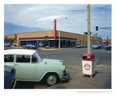 Stephen Shore :: Main Street and Second Avenue, Valley City, North Dakota. 1973