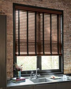 Introduce warmth and natural beauty to your home with our custom durawood faux wood blinds, all available in a variety of the finest wood finishes. Kitchen Blinds Above Sink, Window Treatments Living Room, Faux Wood Blinds, Kitchens And Bedrooms, Window Styles, Bathroom Layout, Blinds For Windows, Window Coverings, Home Renovation