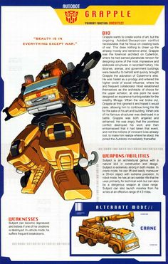 Transformers Universe - Gallery: G1 Grapple