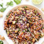 Mayo-Free   vegan coleslaw recipe tahini - Vegan Coleslaw #coleslaw #tahini #VeganColeslaw