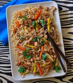Slow Cooker Pork Tenderloin with Garlic Noodles |Betsylife.com