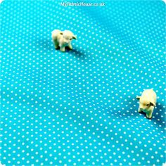 Buy Cotton Fabric - Blue Spotty Fat Quarter FQ £2.29 | My Fabric House