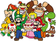 File:Mario and Co.- Birthday Artwork.png