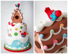 Christmas Candy Cake by Sugarbelle Cakes