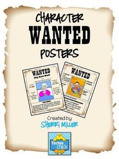 Wanted Poster for Character or Animal (PowerPoint Templates) - A fun way to learn about characters who are villains or animals/monsters is with a Wanted Poster!  Check out this technology integrated lesson!