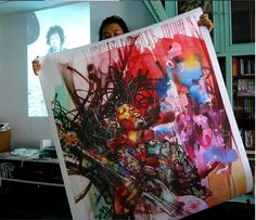 David Choe with his version of Jimi Hendrix