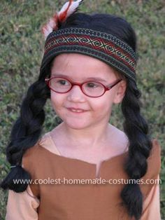Coolest Homemade Native American Girl Costume