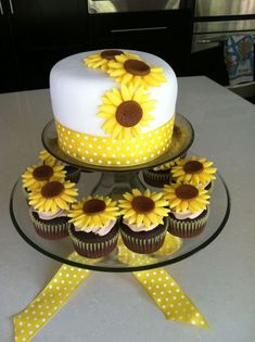 Sunflower Wedding Cake Designs Decoration Ideas Pictures | Wedding ...