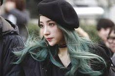 Bildresultat för popular kpop hair green