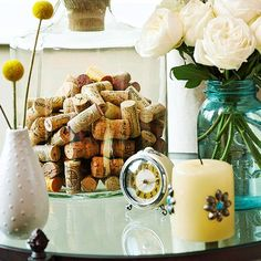 Put leftover wine corks to good use with these easy and fun DIY crafts that are budget friendly. We included projects for wall art, stamping crafts, centerpieces, bulletin boards, and other stylish decor.
