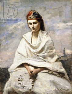 A Young Greek with a white shawl, c.1868-70 (oil on canvas)