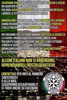 CAPITAN FUTURO: Casapound Lucca: continuano con successo i presidi...