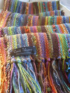 Handwoven Scarf October Bliss Woven Scarf Wrap by barefootweaver, $94.00