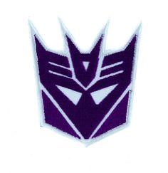 Decepticons Transformers Patch Iron on Applique Alternative Clothing Megatron  #hat #applique #rockabilly #beanie #gamerclothing