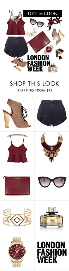 """""""Burgundy"""" by editaeduardovna ❤ liked on Polyvore featuring Giuseppe Zanotti, Katie Ermilio, Ziba, Comme des Garçons, Valentino, Stella & Dot, Gucci, Tom Ford, Henry London and women's clothing"""