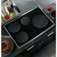 GEProfile 30-Inch Smooth Surface Induction Electric Cooktop (Color: Stainless Steel)  Item #: 283146  Model #: PHP900SMSS